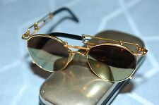 Jean Paul Gaultier 56-0174 Vintage Sunglasses, Gold Frame, Gold Flash Lenses