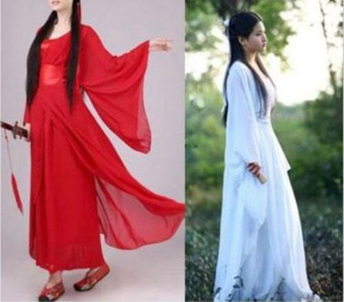 Classic Ancient Costume  Chinese hanfu Fairy  Heroic Woman Clothes dance dress
