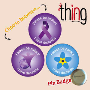 56b5636941a Details about Please Be Patient DEMENTIA/ALZHEIMER'S Awareness Ribbon Metal  Pin Badge - 013