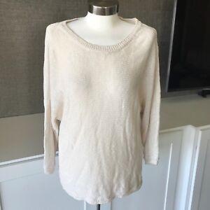 2801a921e Joie Emilie Boxy Sweater Dolman Sleeve Top Oversized Small Open Knit ...