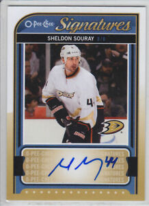 2014-15-O-PEE-CHEE-SHELDON-SOURAY-AUTO-S-SS-OPC-SIGNATURES-Autograph-Ducks
