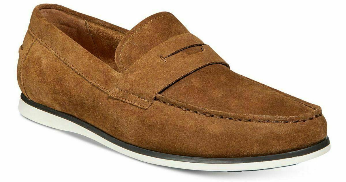 Alfani Men's Sawyer Slip-On Loafers Dark Tan 11M NIB