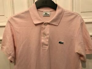 pretty nice 17e5a 90d10 Details about Lacoste Polo Shirt Polo Shirt Pink Size 3/S 100% Cotton- show  original title