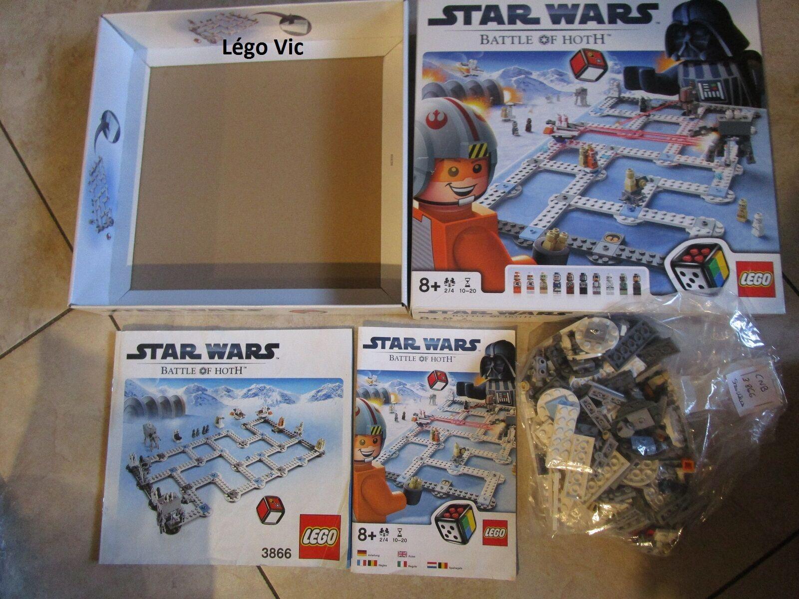 Lego 3866 Star Wars Battle of Hoth jeux de société complet boite notice -CNB1