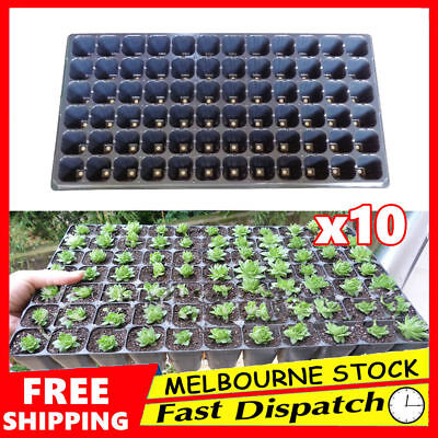 10x 72 Hole Seedling Starter Tray Plant Seed Grow Box Insert Propagation PVC