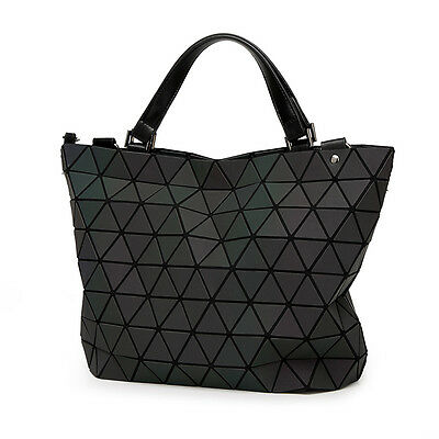 Fashion Japan Style Laser Bag Geometric Diamond Luminous Women Handbags Bag Bao