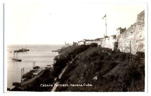 RPPC-Cabana-Fortress-Havana-Cuba-Real-Photo-Postcard
