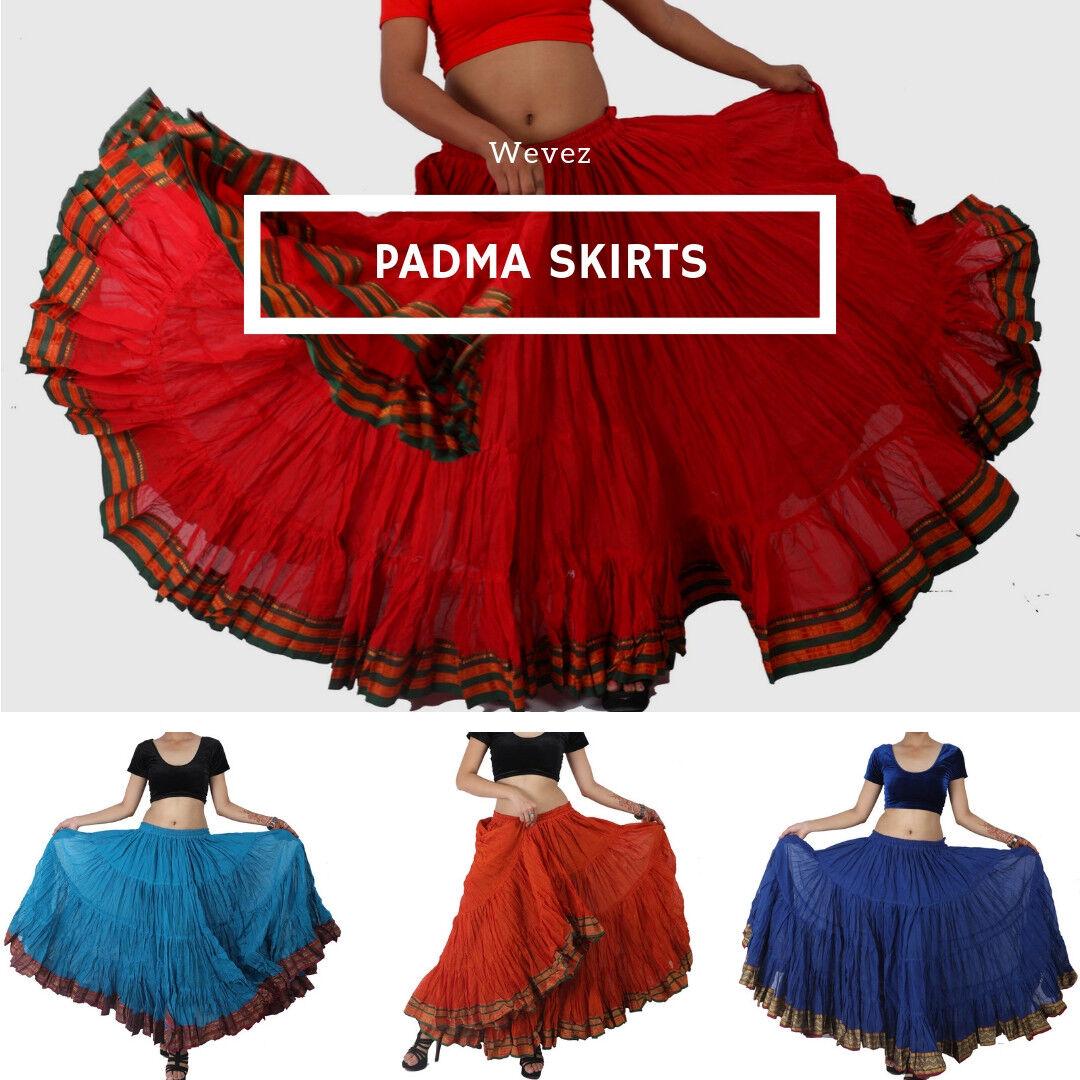 Bollywood Padma Maharani Tribal Fusion 25 Yard Belly Dancing Skirt - 12 Colours