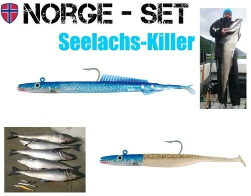 Speedfishing Set 2 Lieu Noir-Killer variante 5 a´125g