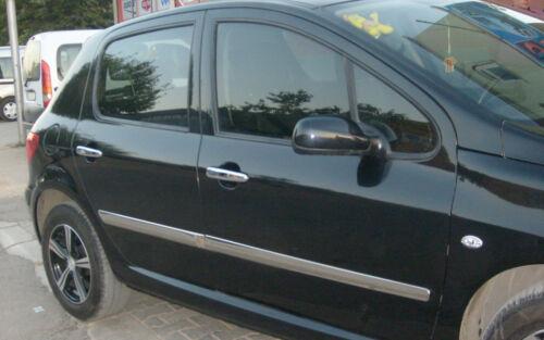 2001Up Peugeot 307 Chrome Side Door Streamer 4Pcs 4Door S.STEEL