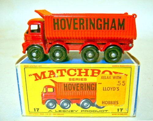 suministramos lo mejor Matchbox RW 17d hoveringham tipper tipper tipper temprana versión negra BPL. en Box  hasta un 65% de descuento