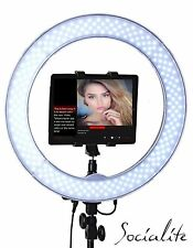"SOCIALITE 18"" LED Video Photo Ring Light Kit fit Tablets Smartphone Teleprompter"
