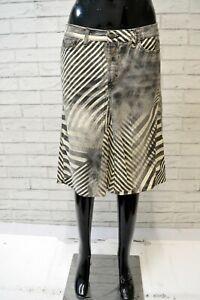 JUST-CAVALLI-Donna-Gonna-Vita-Alta-Taglia-46-Cotone-a-Righe-Skirt-Women-039-s-Casual