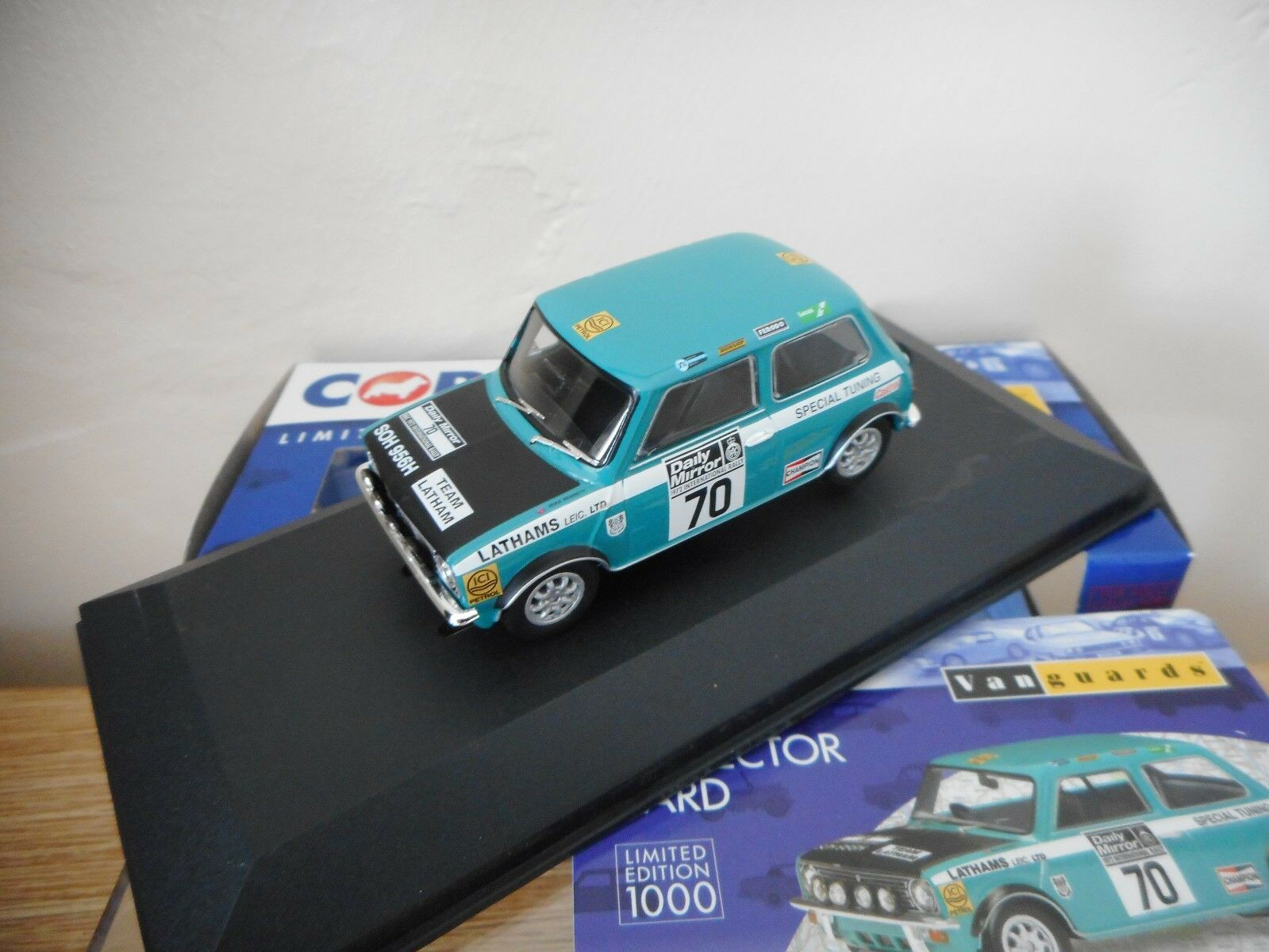 Vanguards Corgi VA13507 Mini 1275 GT 1972 RAC Rally Cooper & Bennett