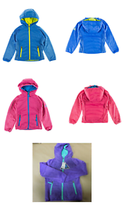 NEW-Snozu-Girl-039-s-Quilted-Fleece-Hooded-Layered-Look-Soft-Plush-Jacket-VARIETY