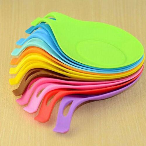 Cuisine en silicone résistant à la chaleur Cuillère Fourchette Tapis repos Ustensile De Cuisine Support Pad