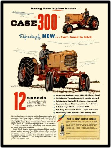 Case Farm Machinery New Metal Sign Case 300 Tractor Featured