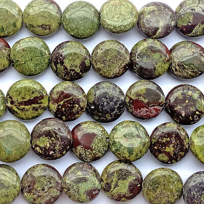 Dragon Blood Jasper Quartz 24x18mm Oval Semi Precious Stone Beads Q1 Strand
