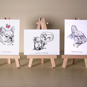 3-French-Bulldog-drawings-cute-Frenchies-ACEO-art-cards