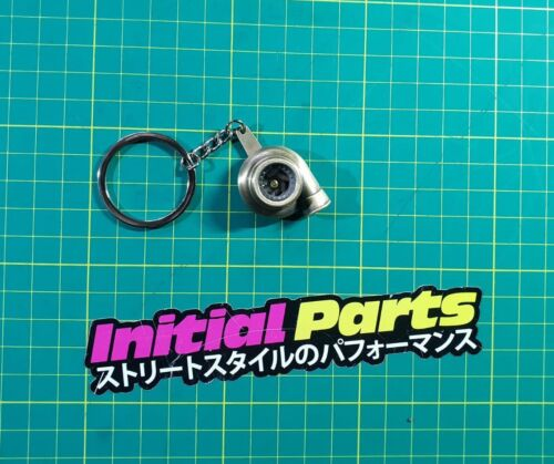 Turbo Charger Boost Spinning Fan Metal Anodized Key Chain Keyring JDM Gold