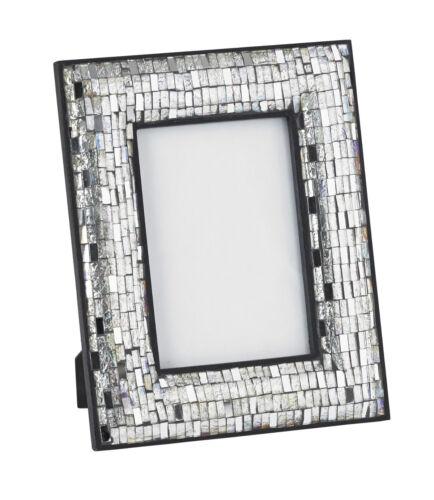 Endon EH-MOSAIC-FRAME-SIL Mosaic Picture Frame Silver Detail 4x6