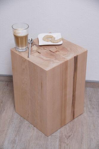Lounge Sitzblock Klotz Würfel Cube Hocker Massivholz Sitzklotz Buche Holzklotz