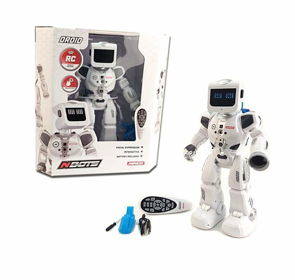 Ninco NBOTS NT10040. Robot Droid Radio Control with lights,movement expressions