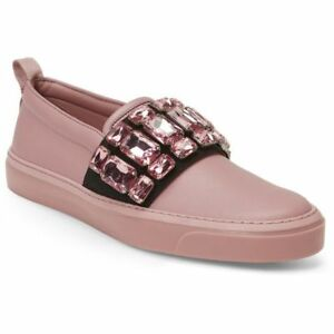 77a2c9462e Gucci Women Sport Shoe Rose Pink Litho Crystal Slip On GG Sneakers ...