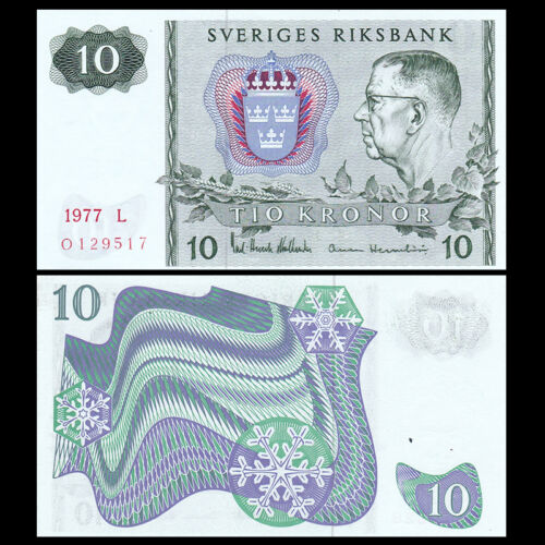 1961-1990 banknote UNC Sweden 10 Kronor P-52