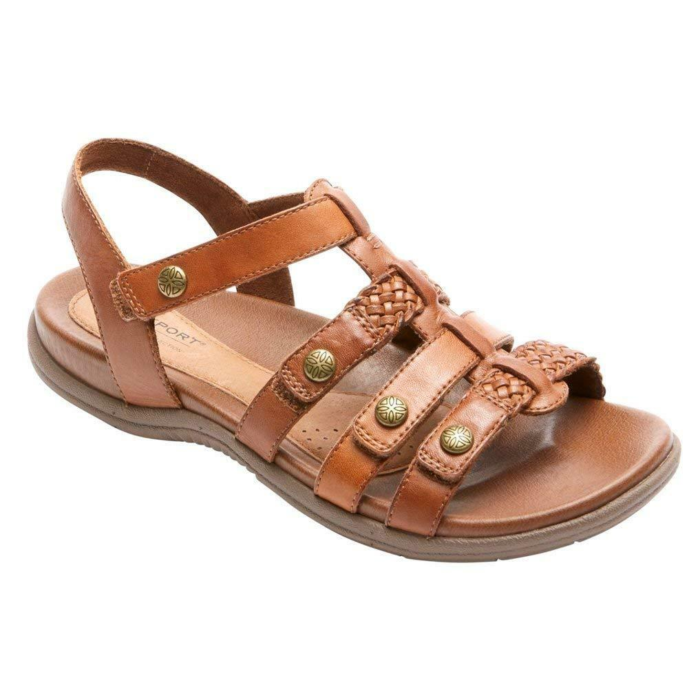 Rockport Cobb Hill Collection Rubey T Strap Womens Sandal Tan- Pick SZ color.