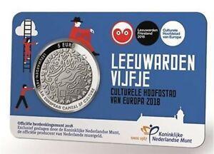 Nederland-5-euro-2018-Leeuwarden-vijfje-in-coincard