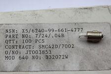 Pack of 50 x BA7S 24v 40mA 1.0w miniature clear glass tube bulbs 7x19mm 661-4777