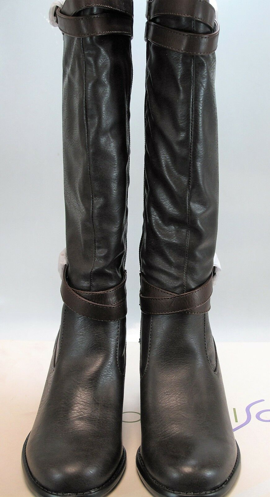 NATURAL SOUL Women's SACRED Brown Leather Tall Boots US 7 M, UK 5 NEW IN BOX
