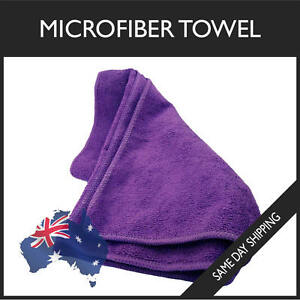 Microfiber Towel GYM SPORT FOOTY TRAVEL CAMPING SWIMMING DRYING MICROFIBRE Purpl