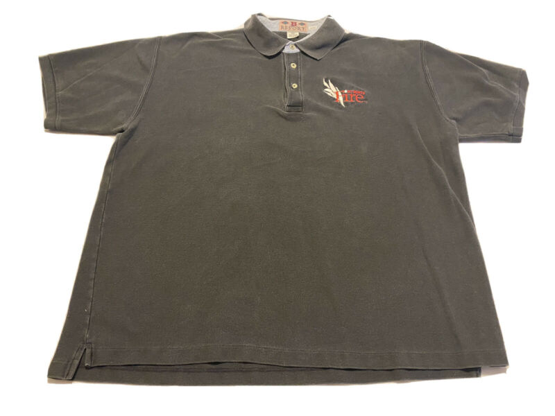 Boa Resort Fort Worth Fire Firefighter Polo Shirt Size 2xl Black Cotton To Adopt Advanced Technology