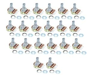 20pcs-10K-ohm-Linear-Taper-Rotary-Potentiometer-Panel-pot-B10K-15mm