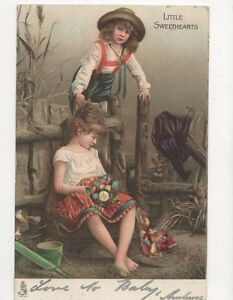 Little Sweethearts 1905 Tuck Chromo Litho Postcard  221a - Aberystwyth, United Kingdom - Little Sweethearts 1905 Tuck Chromo Litho Postcard  221a - Aberystwyth, United Kingdom