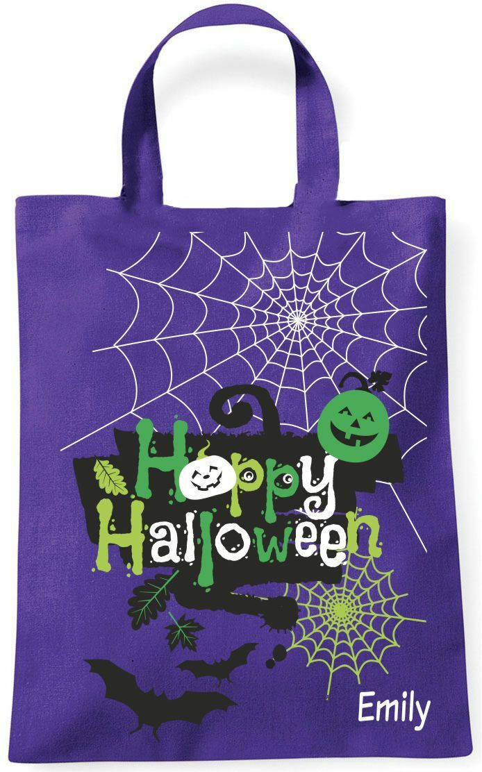 Mini Tote Bag Happy Halloween Bat Cats  Collection Case Various Motives  discounts and more