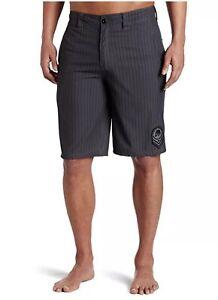 Metal-Mulisha-Men-s-Black-Detriment-Hybrid-Walkshort-Boardshort-Size-28