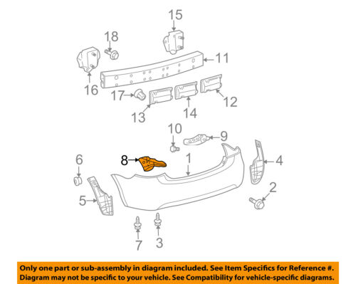 TOYOTA OEM 07-11 Yaris Rear Bumper-Side Support Right 5257552142