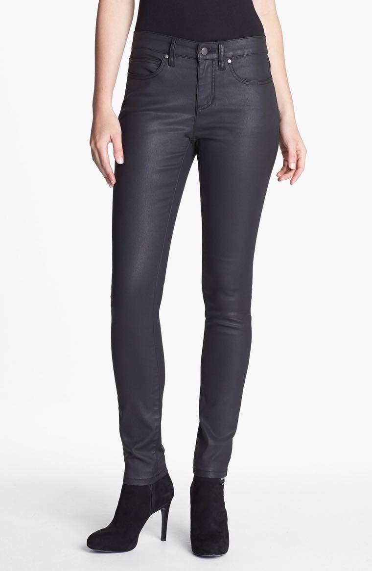 Eileen Fisher Women's Waxed Denim Skinny Jeans - Size 2 - C217