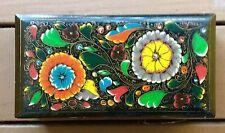 RARE Vintage Khokhloma Style Painted Russian Glove Box