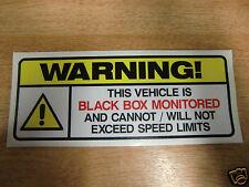 Black Box vehicle warning decal - 175mm x 65mm