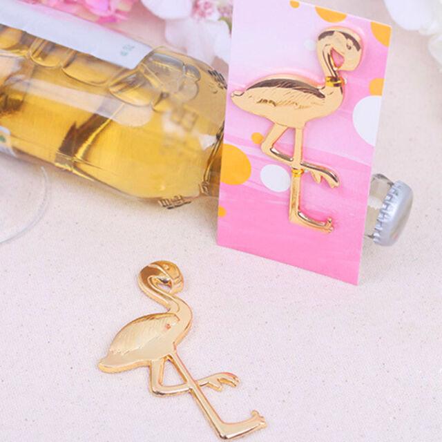 Gold Metal Flamingo Bottle Opener Bar  Summer Beach Party Wedding Favors Selling
