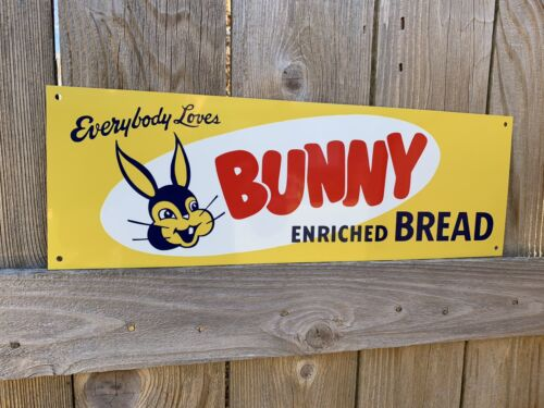 everybody Loves Bunny Enriched bread metal sign beautiful 18x6