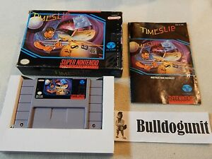 Timeslip-Complete-w-Box-amp-Manual-SNES-Super-Nintendo-Game-Time-Slip