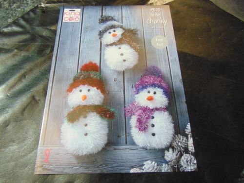 King Cole Tinsel Chunky Snowman Pattern 9030