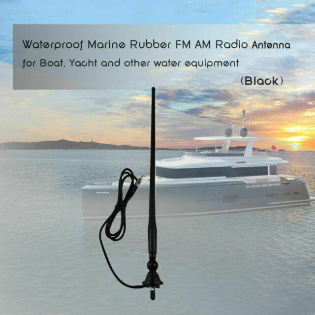 Herdio Waterproof Marine Radio Antenna Rubber Duck Dipole Flexible Mast FM...