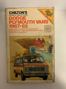 Chilton-Repair-Manual-Dodge-Plymouth-Vans-1967-1982