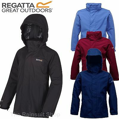 REGATTA OBSTACLE  WATERPROOF KIDS RAIN COAT JACKET BOYS GIRLS AGE 3-12YRS